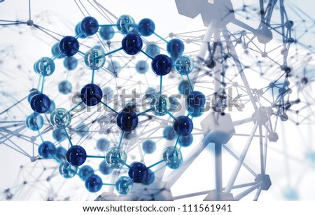 abstract science background - stock photo