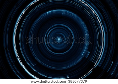 Abstract science fiction futuristic circular background - stock photo