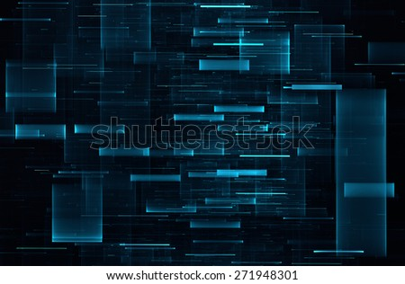 Abstract science fiction matrix like background - stock photo