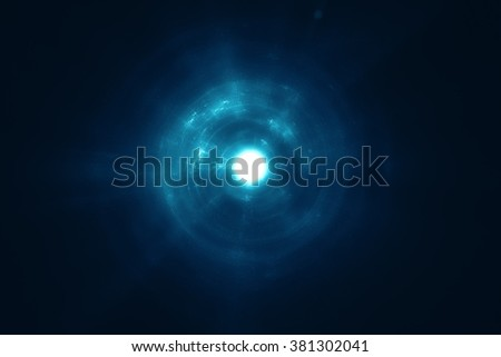 Abstract science fiction supernova background - stock photo