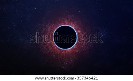 Abstract scientific background - full eclipse, black hole. Elements of this image furnished by NASA - stock photo