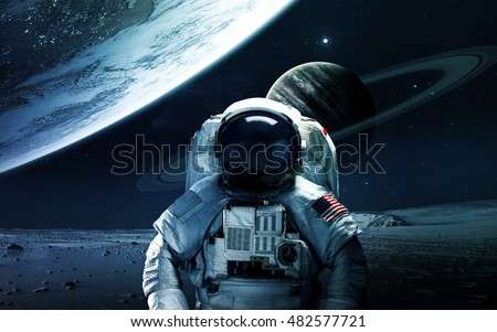 Abstract scientific background - planets in space, nebula and stars. Elements of this image furnished by NASA nasa.gov