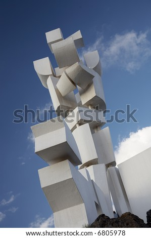 Abstract sculpture - stock photo