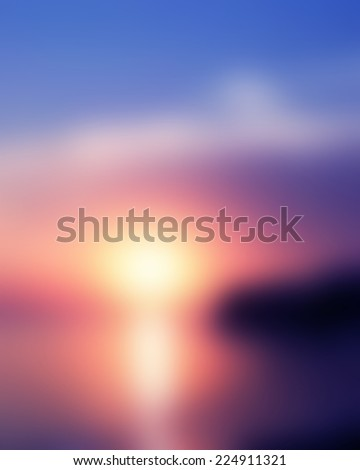 Abstract sea background in motion blur - stock photo