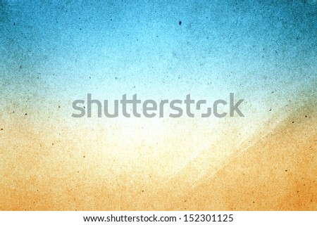 Abstract sea beach recycled paper texture, may use as background - stock photo
