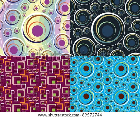 Abstract seamless background for wallpapers and wrapping paper, Raster version - Vector version is also available.