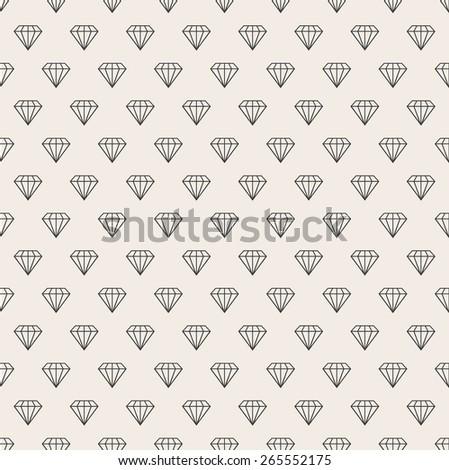Abstract seamless background. Line pattern. Diamonds background - stock photo