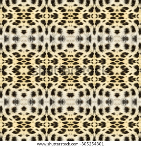 Abstract seamless background or texture geometric illustration based on leopard fur. Beautiful natural motive.