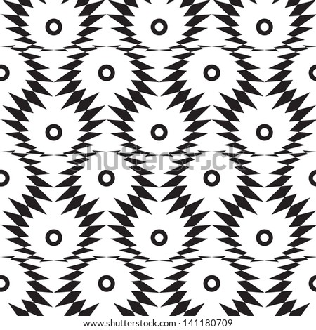 Abstract seamless black and white pattern with thorny eyes. Easy to change the colors.  - stock photo