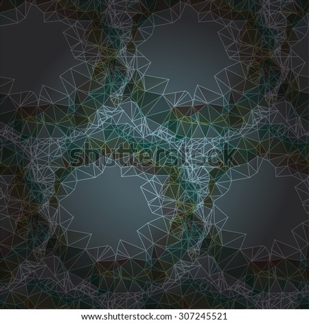 Abstract seamless dark pattern of polygonal rings