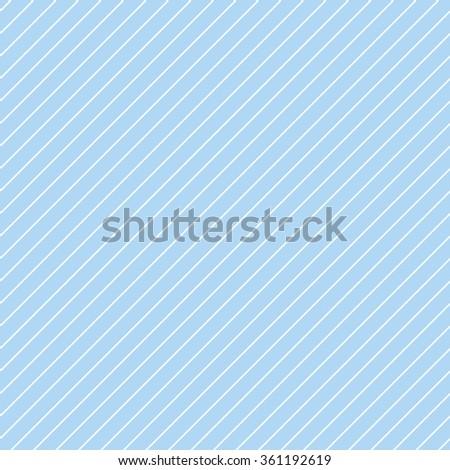 Abstract Seamless diagonal blue striped pattern in thin white stripe. Illustration - stock photo