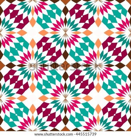 Abstract seamless geometric patterns. Kaleidoscope seamless  - stock photo