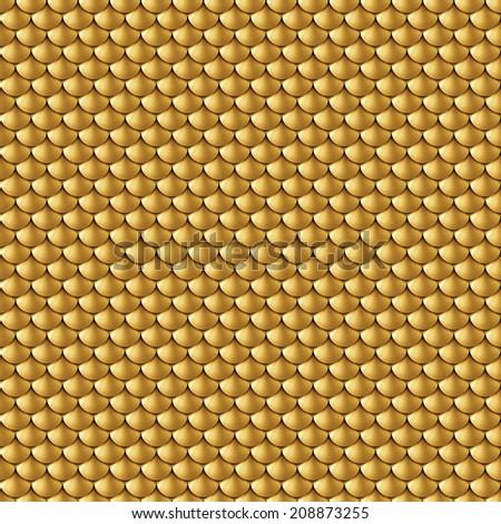 abstract seamless gold background, golden metallic texture - stock photo
