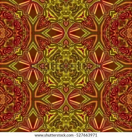 Abstract seamless oriental ornamental historical mirroring fractal pattern