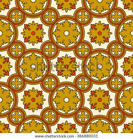 Abstract seamless ornamental pattern. Renaissance decorative wallpaper - stock photo