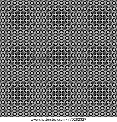 Abstract seamless pattern consisting of black, white and gray tiles.