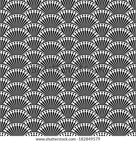 Abstract seamless pattern in retro style
