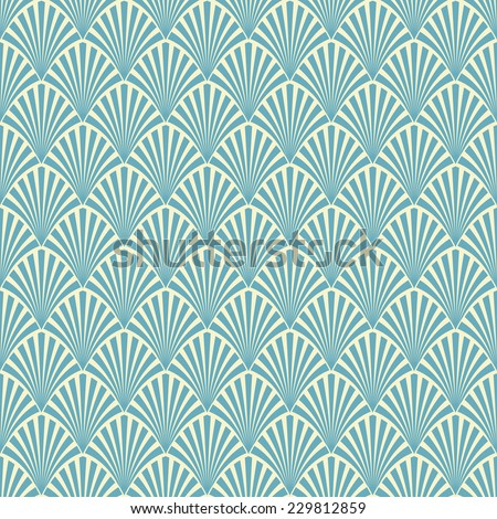 Abstract seamless pattern palm branch - stock photo