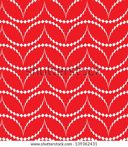 Abstract seamless pattern with thorny semicircles - stock photo