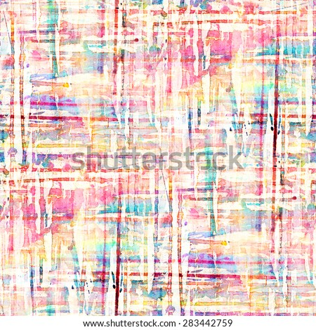 Abstract seamless pattern with watercolor spots.  - stock photo
