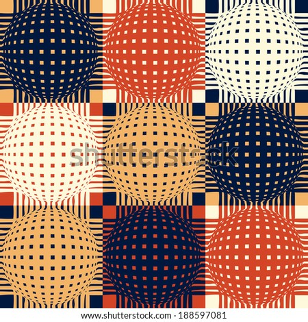 Abstract seamless retro pattern.