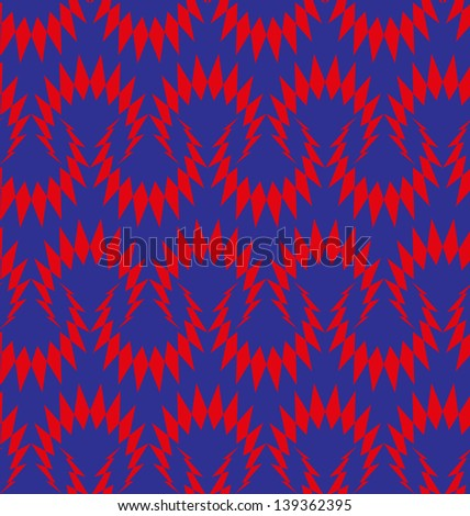 Abstract seamless thorny pattern - stock photo
