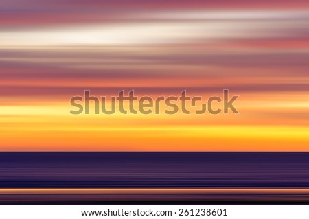 Abstract seascape with motion blur, Abstract colourful background - stock photo