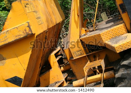 Abstract section of a small dumper - stock photo
