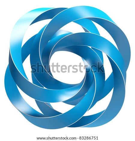 Abstract Shape Isolated on White - stock photo