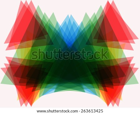 Abstract shapes. Geometric forms. Multicolored bright facet crystal - stock photo