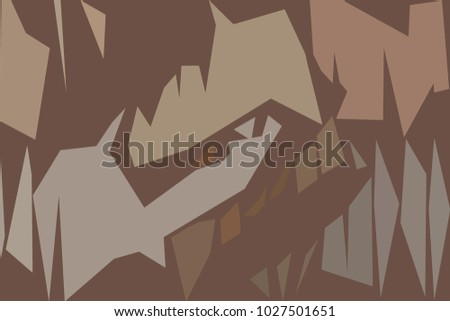 Abstract shapes in brownish colors.