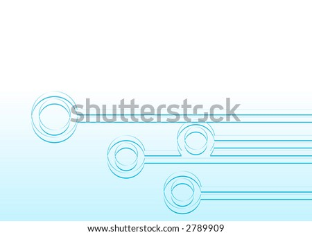 Abstract shapes represent network communication nodes and systems - stock photo