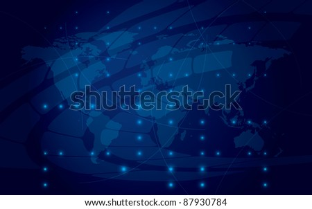 abstract shiny blue background - stock photo