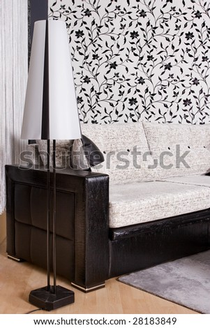 abstract shot of a modern living room - stock photo