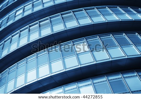 Abstract shot of city hall building on the south bank of the river thames - stock photo