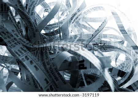 Abstract shredded paper background - stock photo
