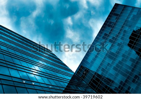 abstract side of business skyscraper