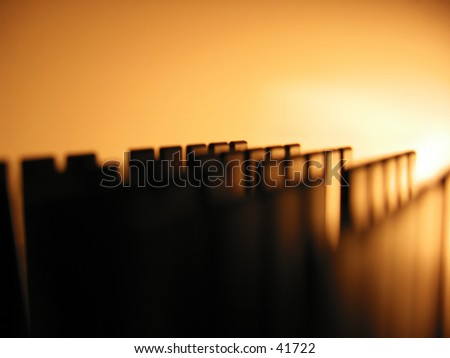 Abstract silhouette - stock photo