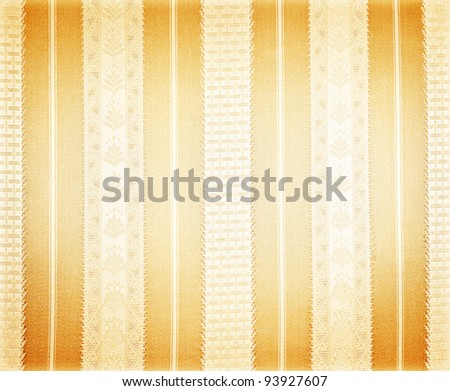 Abstract silk golden wallpaper, vintage pattern background, shiny striped backdrop - stock photo