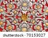 Abstract silver handicraft - stock photo