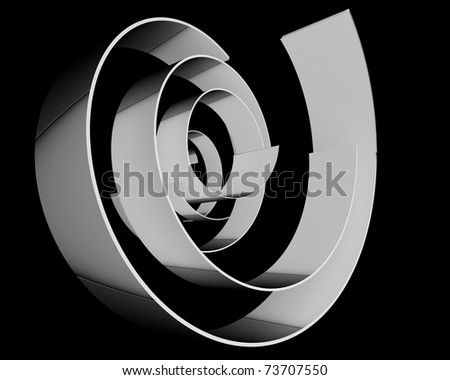 abstract silver rings over dark background