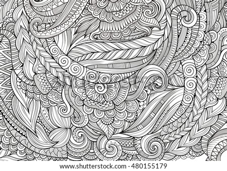 Seamless vector peacock pattern stock vector 647945107 for Coloring pages with lots of detail