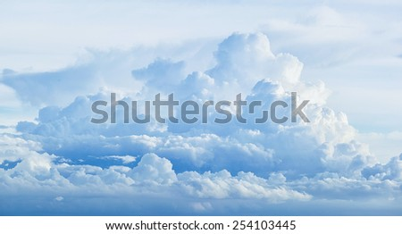 Abstract sky cloud - stock photo