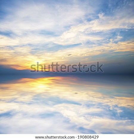 Abstract sky sunset - stock photo