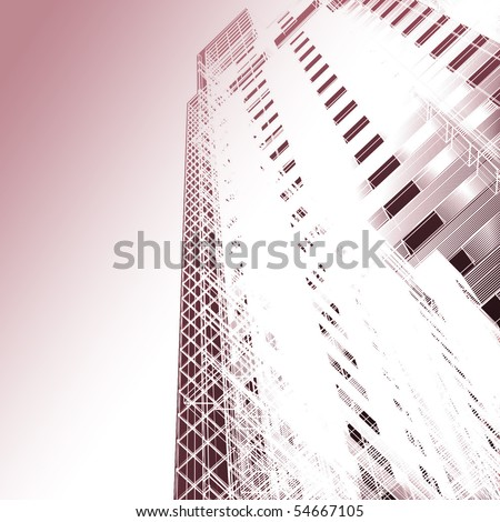 Abstract skyscrapers - stock photo