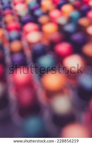 Abstract Slightly Out of Focus Background of Colorful Dots and Lines