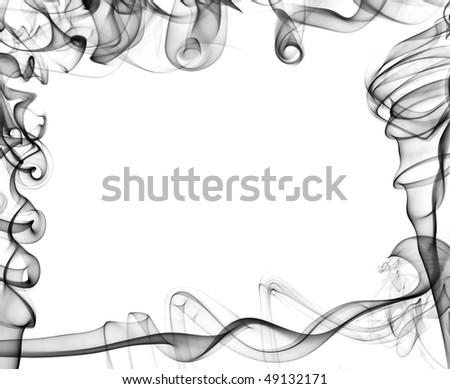 abstract smoke background close-up - stock photo