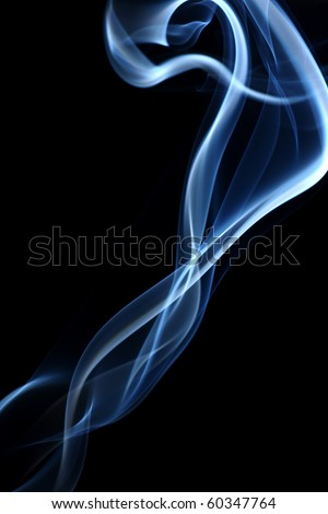 abstract smoke in black - stock photo