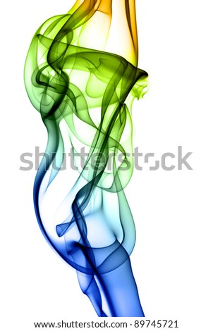 abstract smoke isolated on background - stock photo