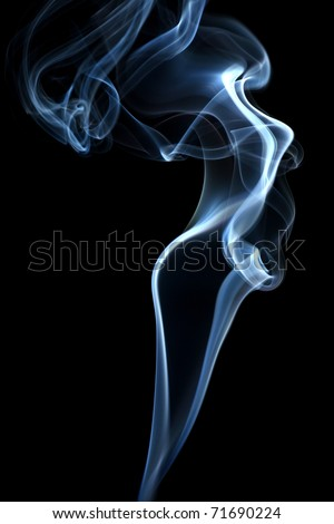 Abstract  smoke isolated on black - stock photo